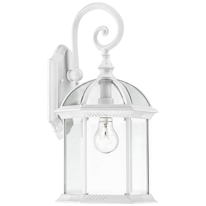 """Satco Boxwood 19"""" High White Outdoor Wall Light"""