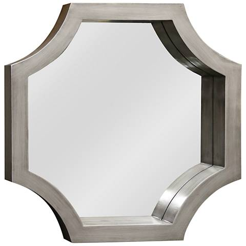 "Madison Silver Wood 23"" x 23"" Octagon Wall Mirror"