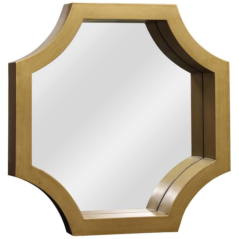 "Madison Gold Wood 23"" x 23"" Octagon Wall Mirror"