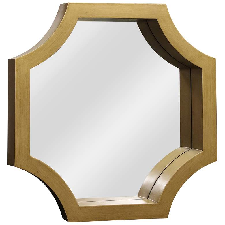"Madison Gold Wood 23"" x 23"" Octagonal Wall Mirror"