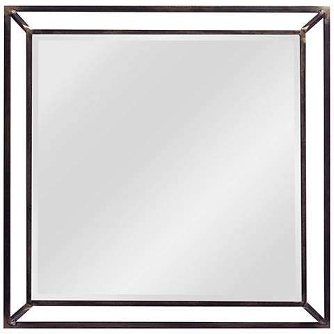 """Webster Iron 24"""" Square Wall Mirror"""