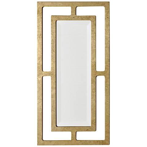 """York Gold Leaf 12"""" x 24"""" Wall Mirror"""
