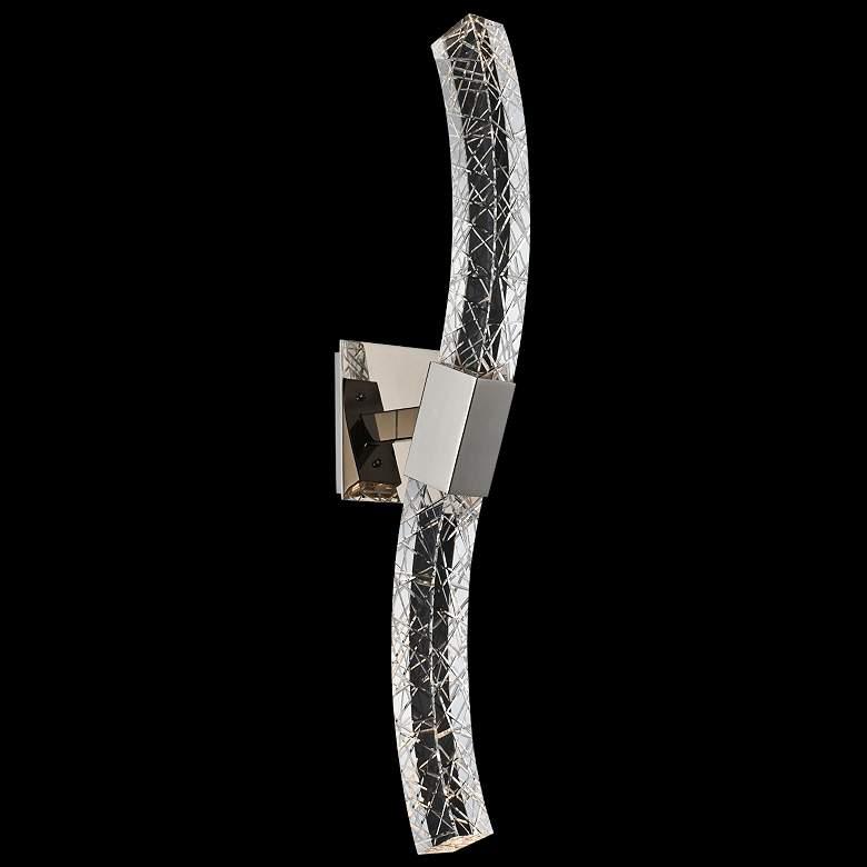 """Allegri Athena 26"""" High Modern Crystal LED Wall"""