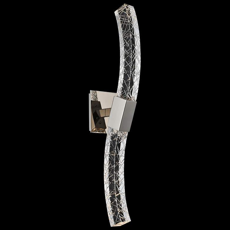 "Allegri Athena 26"" High Modern Crystal LED Wall Sconce"