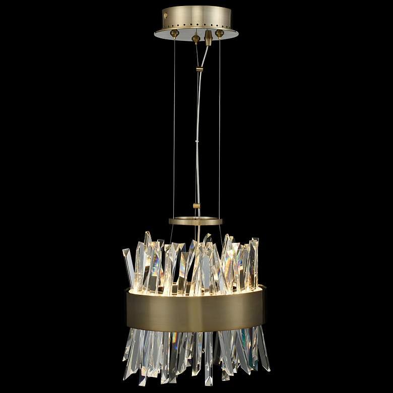 "Allegri Glacier 10""W Champagne Gold LED Crystal Mini"