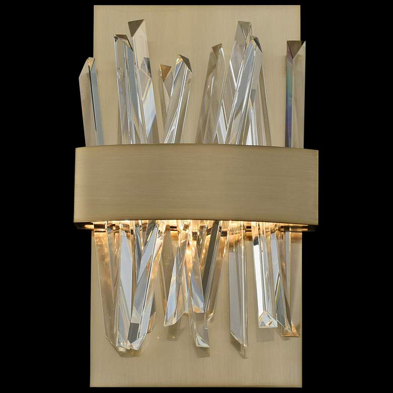 "Allegri Glacier 12""H Champagne Gold LED Crystal Wall Sconce"
