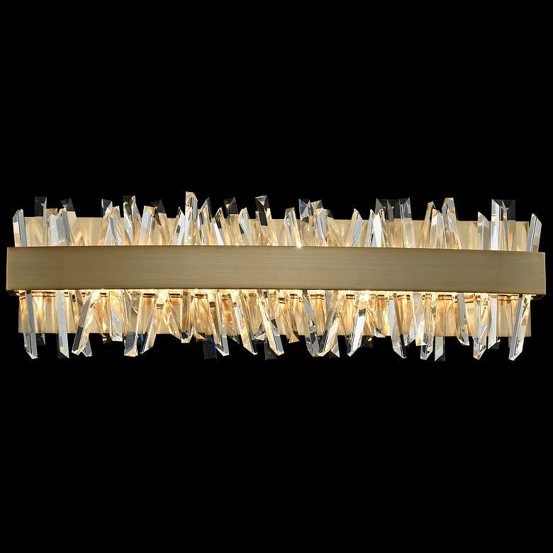 """Allegri Glacier 24""""W Champagne Gold LED Crystal Bath Light"""