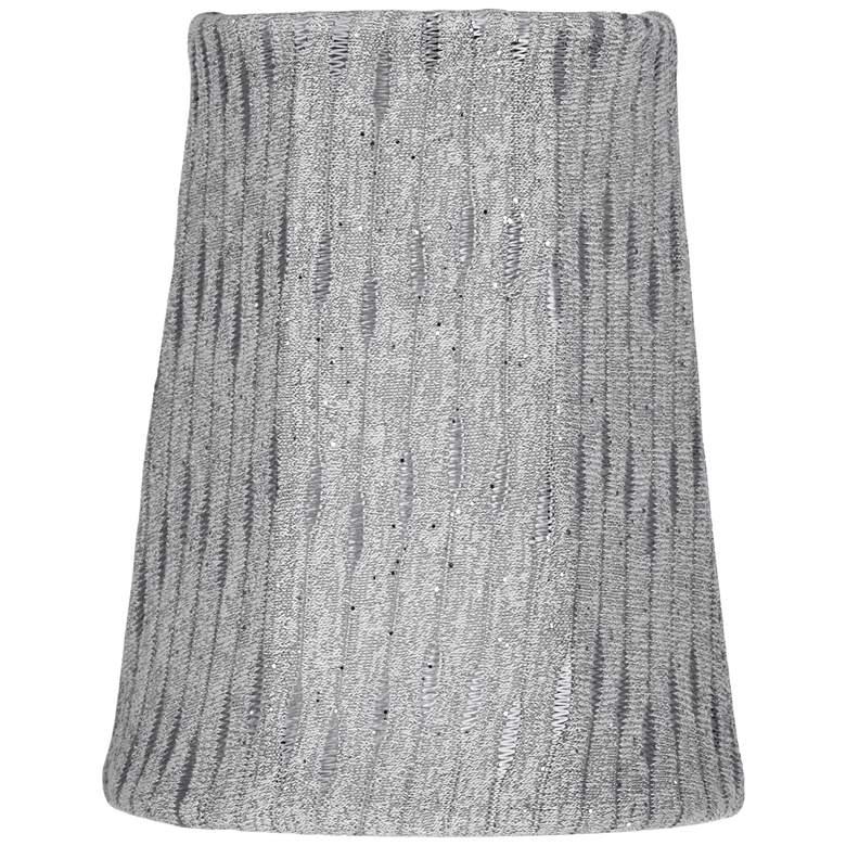 Nevils Gray Round Straight Lamp Shade 3x4x5 (Clip-On)