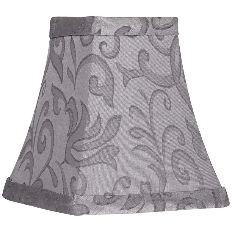 Shiny Gray Square Bell Lamp Shade 2.5x4.5x5 (Clip-On)