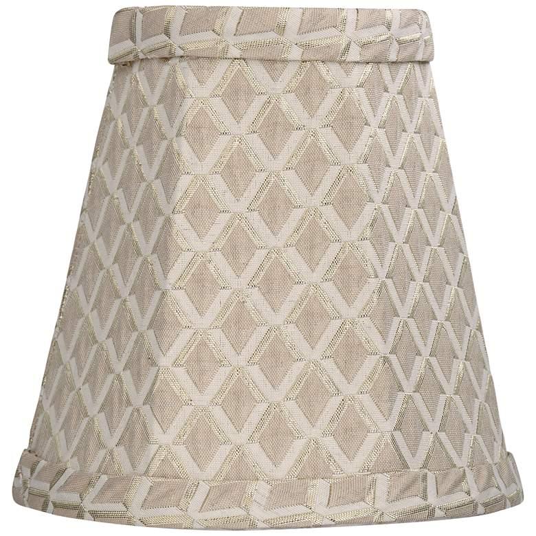 Ozark Beige Round Lamp Shade 3x5x5 (Clip-On)