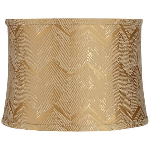 Gold Banqiao Fabric Drum Lamp Shade 13x14x10 (Spider)
