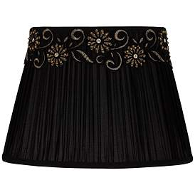 Black Shirring Pleat Oval Shade 8 11x11 16x11 5 Spider