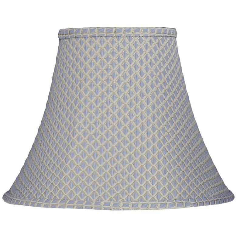 Ozark Blue Round Bell Lamp Shade 7x14x11 (Spider)