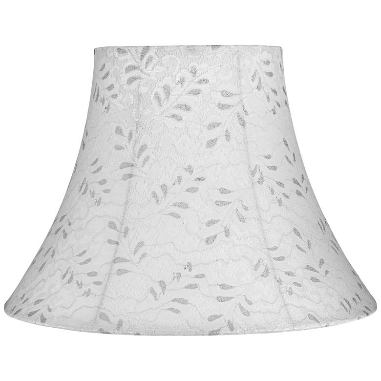 Bethel Off-White Fabric Bell Lamp Shade 8x16x12 (Spider)