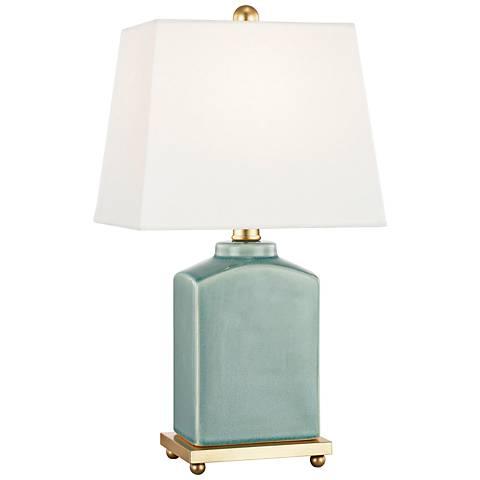 "Mitzi Brynn 17"" High Jade Green Porcelain Accent Table Lamp"