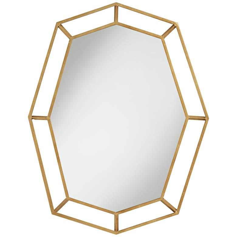 "Karina Gold 31 3/4"" x 41"" Oval Octagon Wall Mirror"
