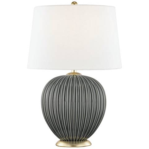 Mitzi Jessa Charcoal Gray Porcelain Accent Table Lamp