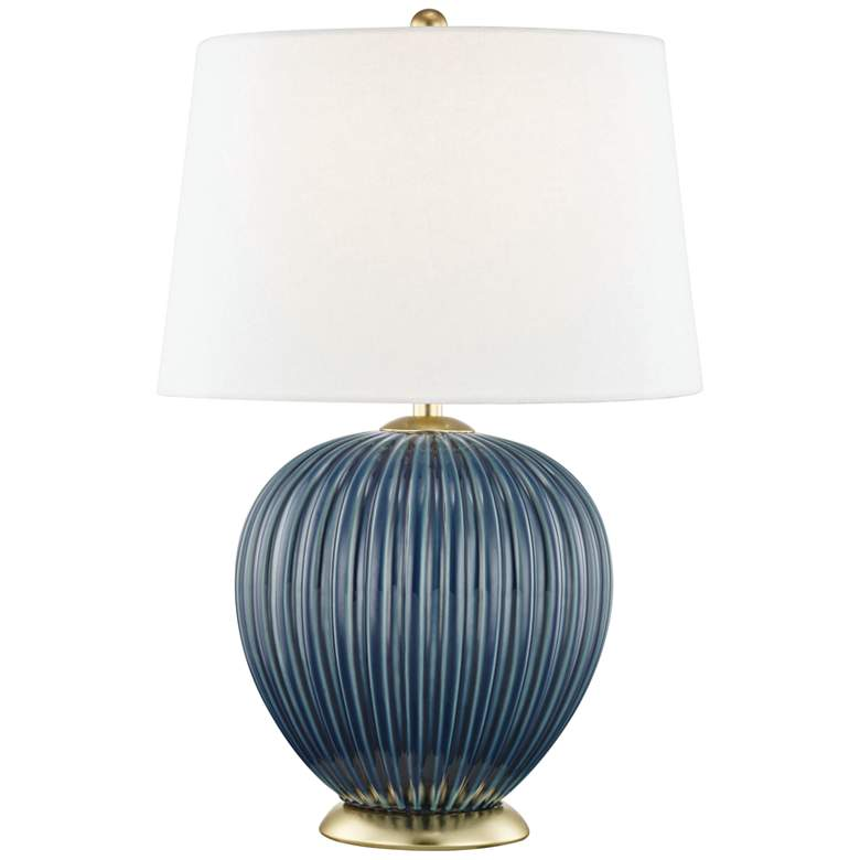 Mitzi Jessa Denim Blue Porcelain Accent Table Lamp