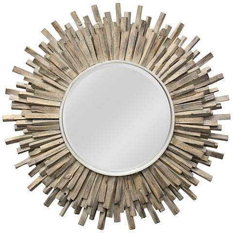 "Complex Natural 36"" Sunburst Wall Mirror"