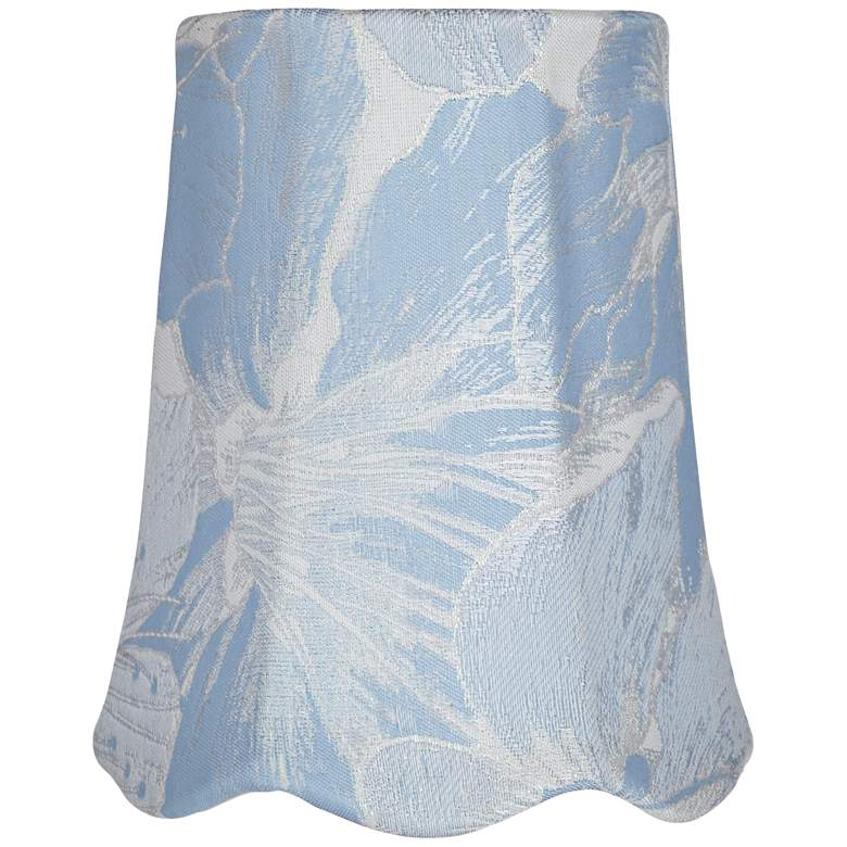 Blue Scallop Bottom Bell Lamp Shade 3x4x5 (Clip-On)