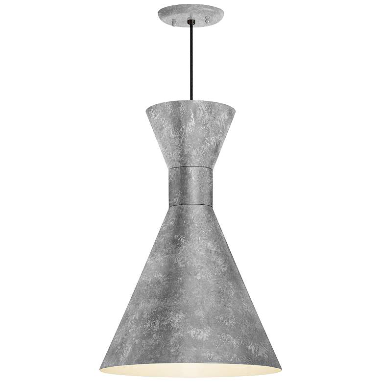 """RLM Mid-Century 18"""" High Galvanized Outdoor Hanging Light"""