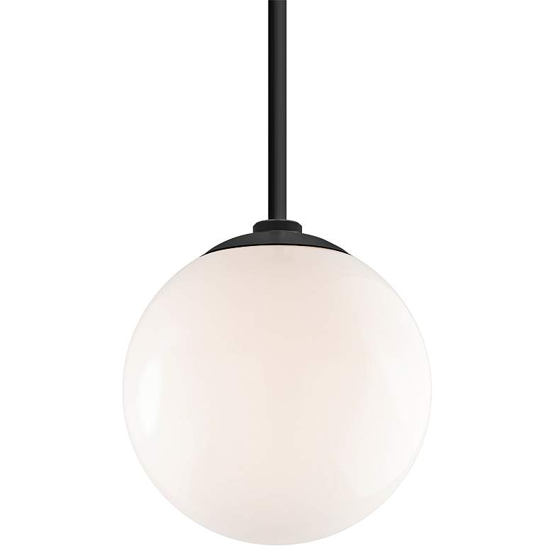 "RLM Globe 12""H Gloss Black Aluminum Outdoor Hanging Light"
