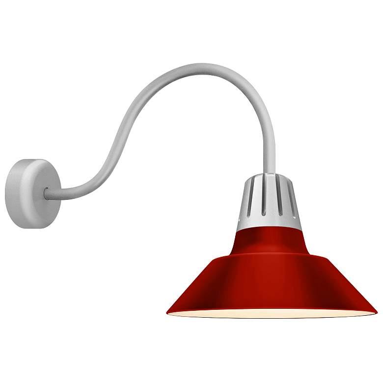 "RLM Heavy Metal 24"" High Red Aluminum Outdoor Wall Light"