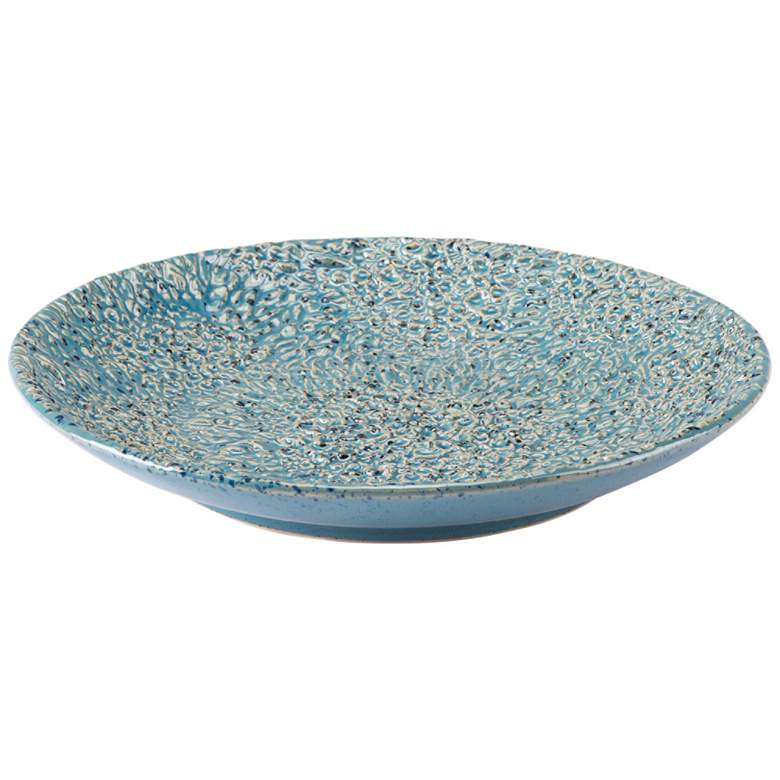 Zuo Crisp Light Blue Round Ceramic Plate