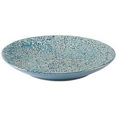 "Zuo 15"" Wide Crisp Light Blue Round Ceramic Plate"