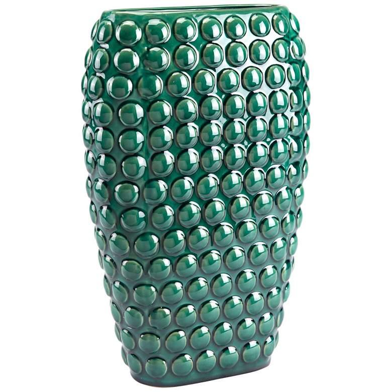 "Zuo Dots Green 16 3/4"" High Large Ceramic Vase"