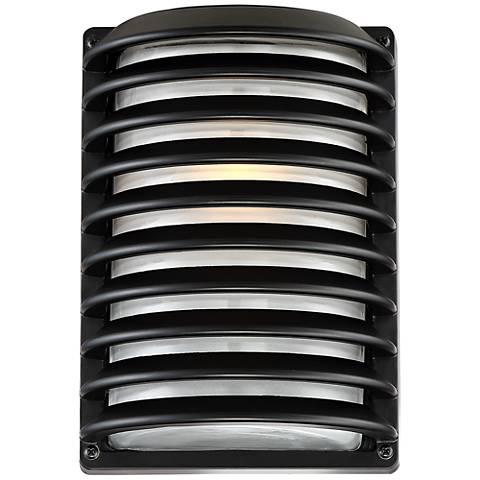 """John Timberland® Black Grid 10"""" High Outdoor Wall Light"""