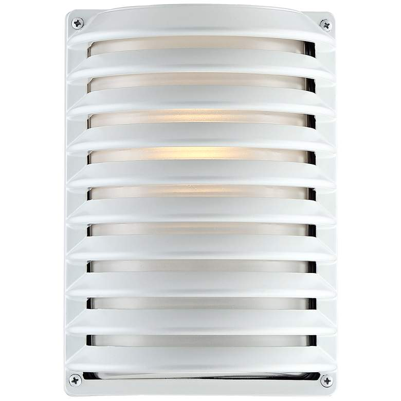 "John Timberland® White Grid 10"" High Outdoor Wall Light"