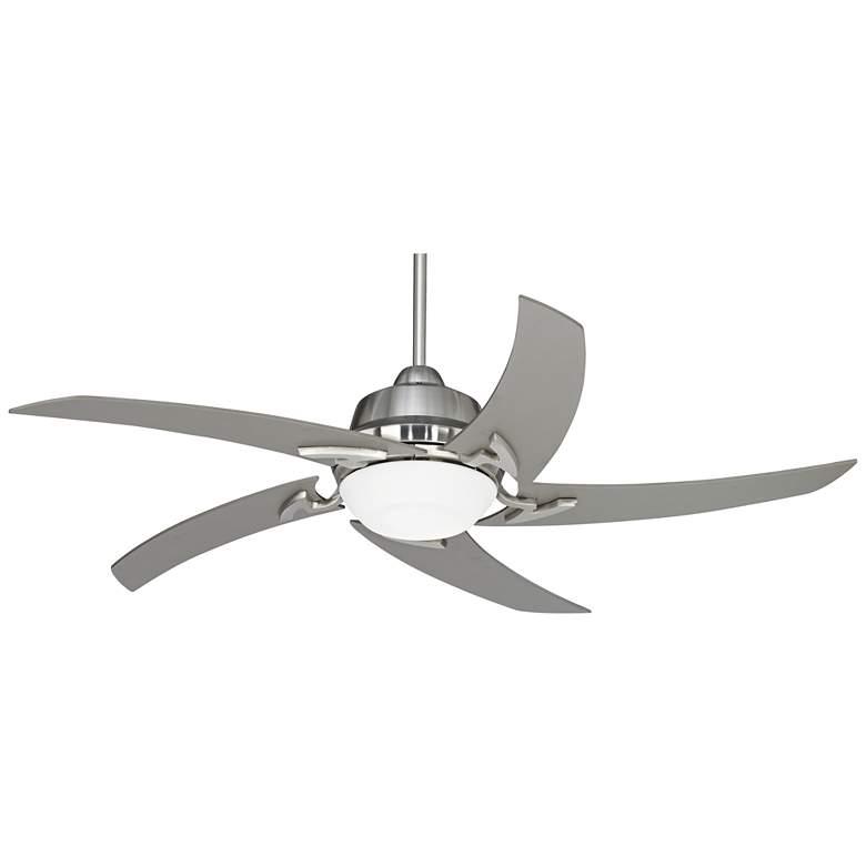 "52"" Casa Vieja Capri Brushed Nickel LED Ceiling Fan"