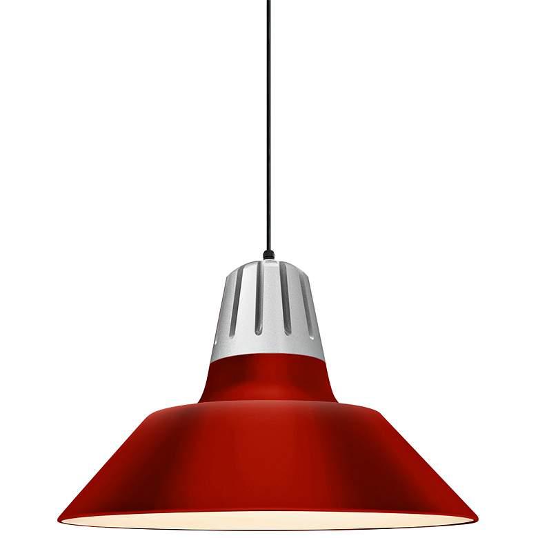 "RLM Heavy Metal 13"" High Red Aluminum Outdoor Hanging Light"