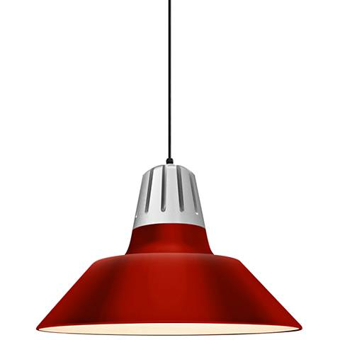 "RLM Heavy Metal 13"" High Red Aluminum Outdoor Hanging Light"