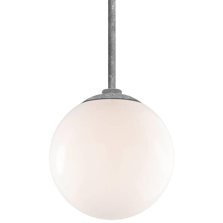 "RLM Globe 12"" High Galvanized Aluminum Outdoor Hanging Light"
