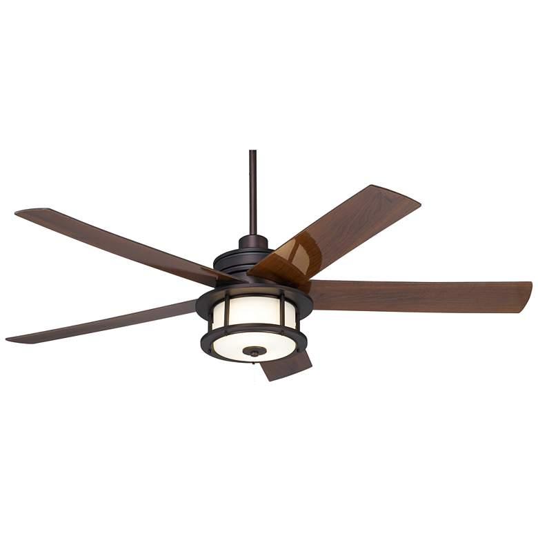 "60"" Casa Largo Oil-Brushed Bronze LED Pull Chain Ceiling Fan"