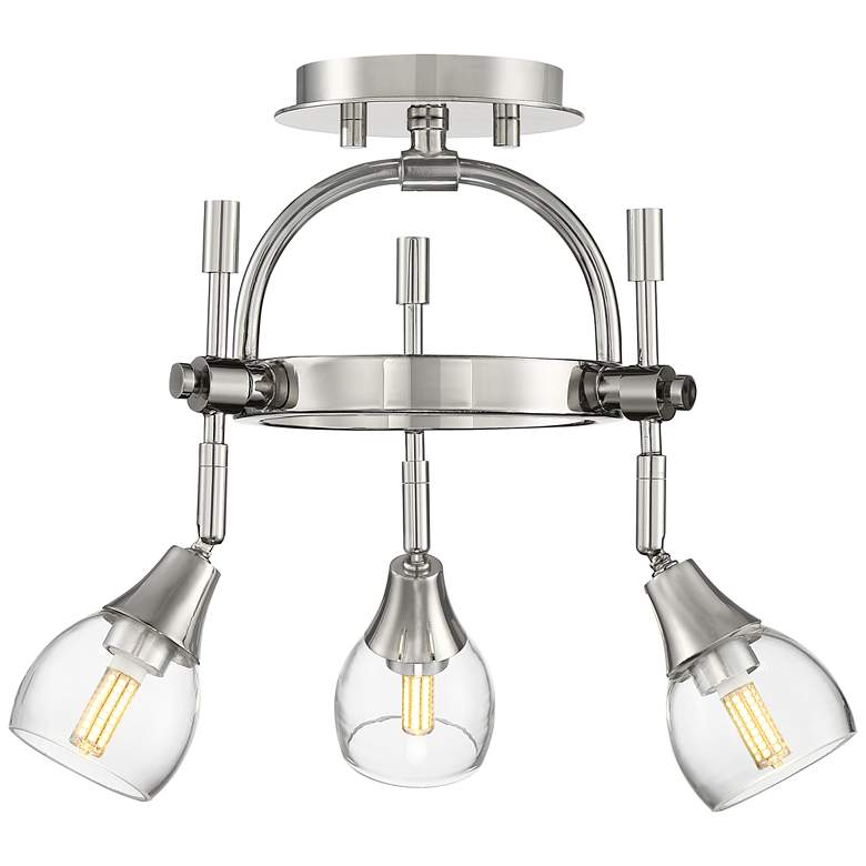 Pro Track Maxwell 3-Light Polished Nickel LED Track Fixture