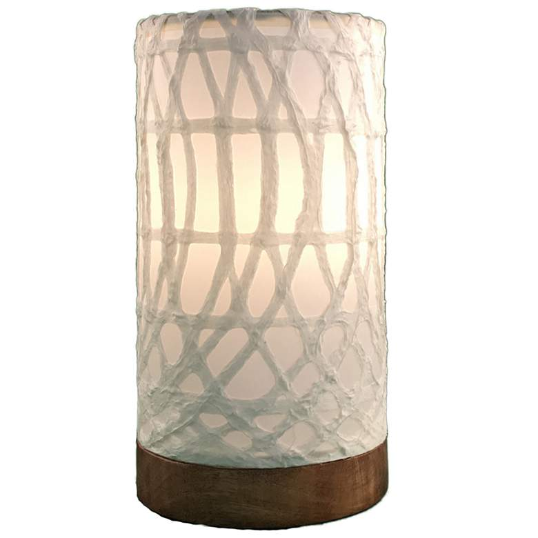 """Eangee Paper Cylinder 9""""H Arches Uplight Accent Table Lamp"""