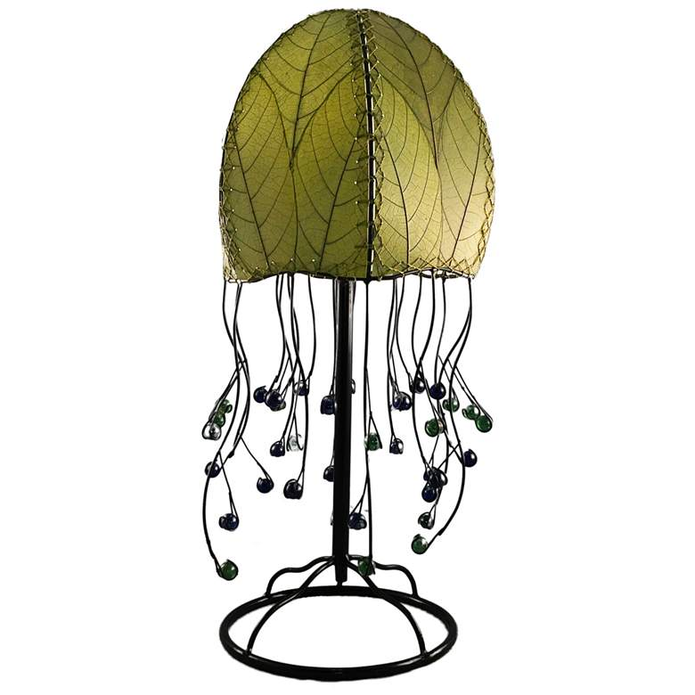 Eangee Jellyfish Green Cocoa Leaves Table Lamp