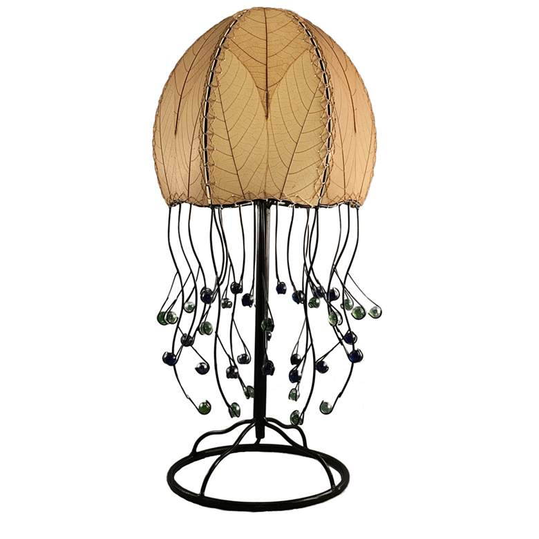 Eangee Jellyfish Natural Cocoa Leaves Table Lamp