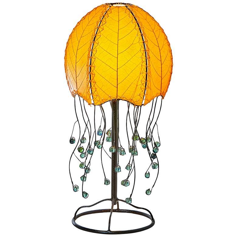 Eangee Jellyfish Orange Cocoa Leaves Table Lamp