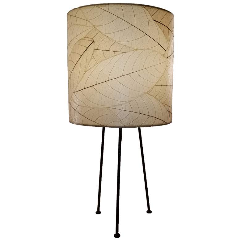 Eangee Metal Tripod Drum Natural Accent Table Lamp