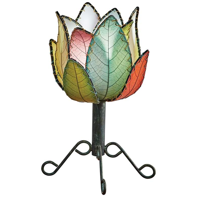 """Eangee Lotus 15""""H Multi-Color LED Outdoor Accent Table Lamp"""