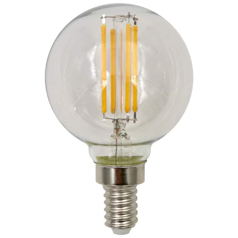 60W Equivalent Clear 6W LED Dimmable E12 Base G16 Filament