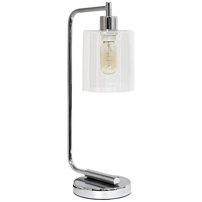 Simple Designs Bronson Chrome Lantern Desk Lamp