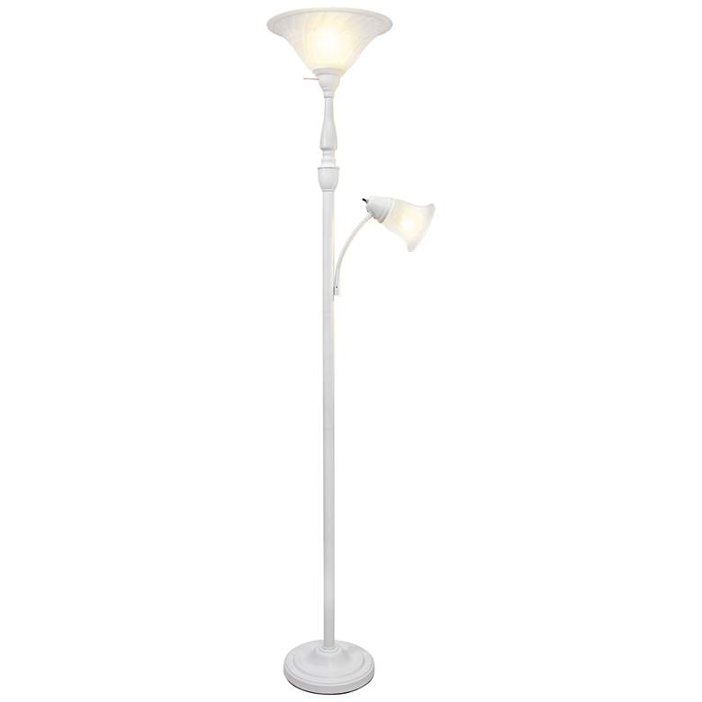 Elegant Designs Mother Daughter White 2-Light Floor Lamp