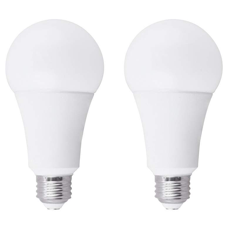 100W Equivalent Frosted 15W LED Dimmable Standard 2-Pack