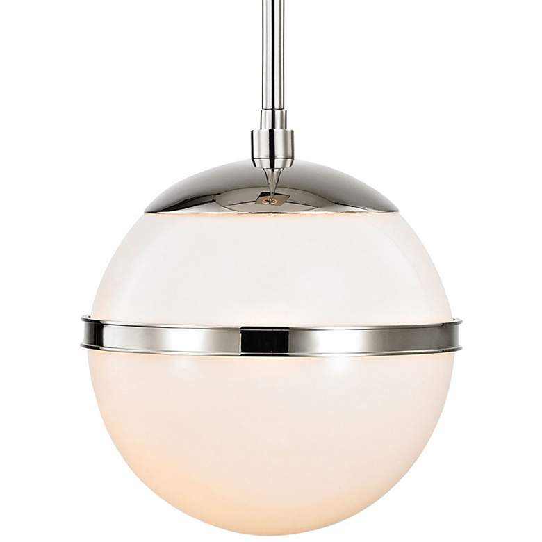 "Crystorama Truax 7"" Wide Polished Nickel Globe Mini Pendant"