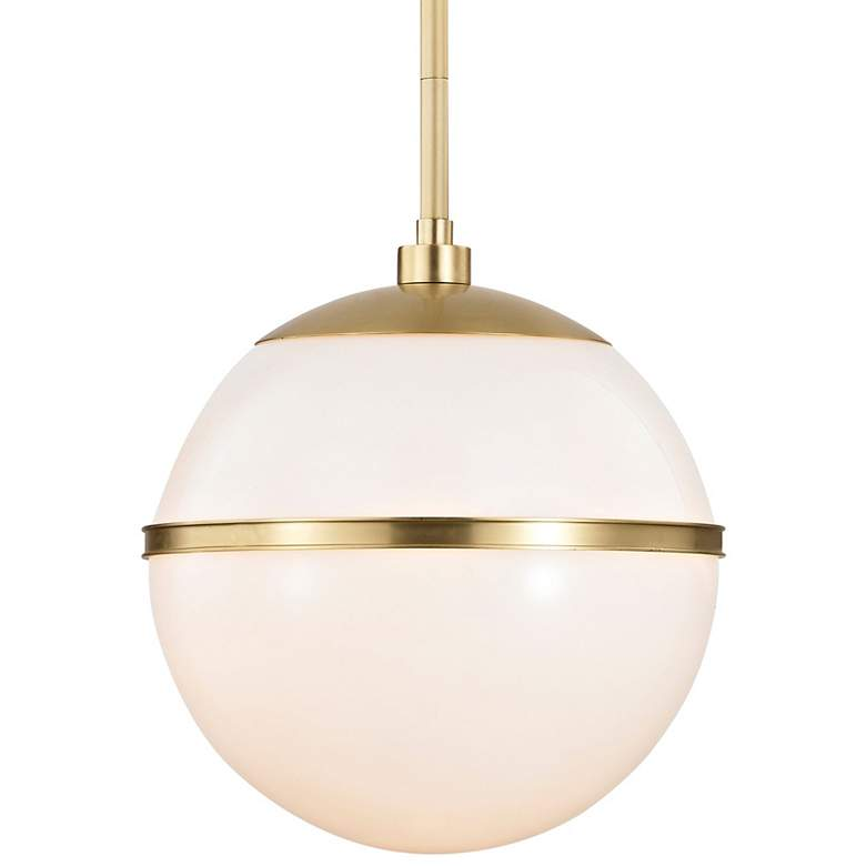 "Crystorama Truax 12"" Wide Aged Brass Globe Mini Pendant"